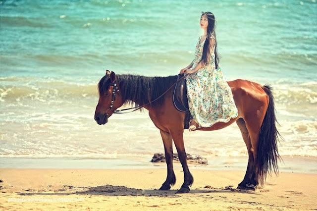 Ảnh đẹp em và biển