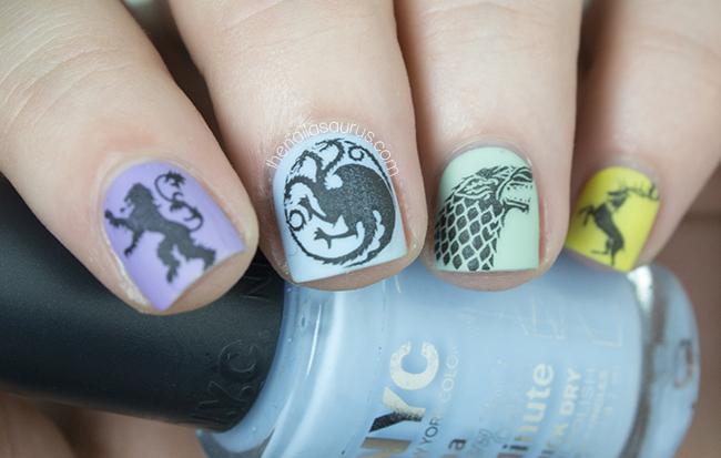 Game Of Girly Thrones The Nailasaurus Uk Nail Art Blog