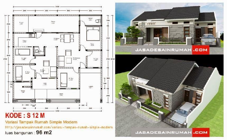 Variasi Tampak Rumah Simple Modern Jasa Desain Rumah