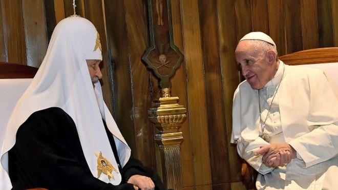 Ocultismo: Papa Francisco y patriarca Kiril