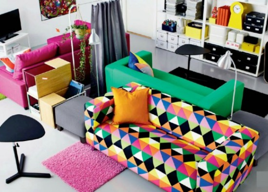 geometric sofa