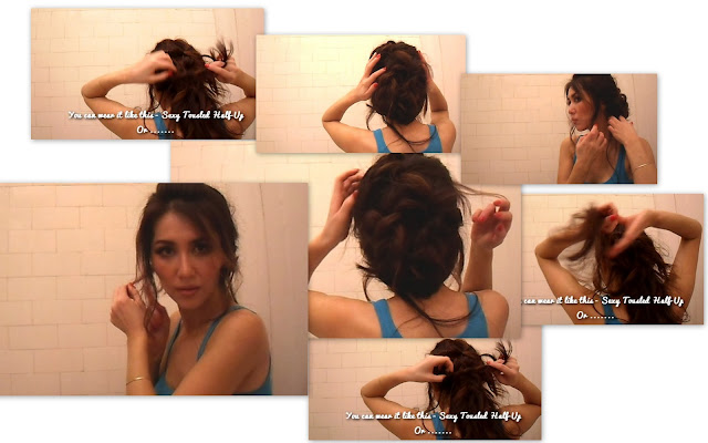Hairstyles collage updos sexy tussled hair quick and easy tutorial