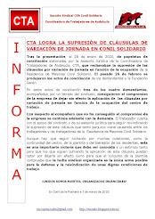 CTA LOGRA LA SUPRESIÓN DE CLÁUSULAS DE VARIACIÓN DE JORNADA EN CONIL SOLIDARIO