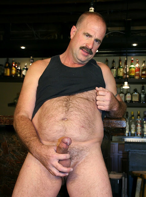 Clint+Taylor03 Chubby Hairy Guy in Cockring and Cum