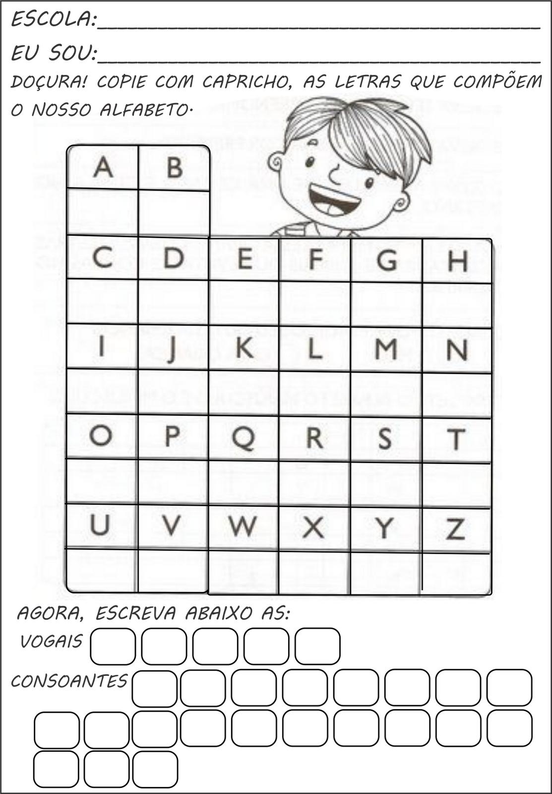 Top Atividades com alfabeto - A Arte de Ensinar e Aprender OM49