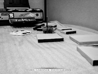 Chris Gardiner Photography workstation for handmade custom gifts.