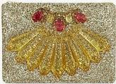 Mawi Christmas glitter clutch, Mawi rhinestone design holiday clutch, silver designer embellished clutch, holiday designer handbags, glitter clutch for holiday, Mawi purse, Mawi handbag clutch