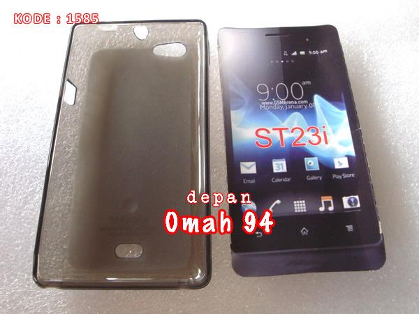 Jual Silikon Soft Case Sony Xperia Miro ST23i Hitam (Black) Transparan