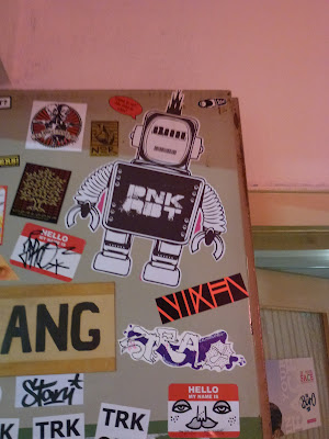 Sticker, Streetart, Urbanart, IN YOUR FACE-Exhibition, Augsburg