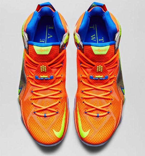 Nike LeBron 12 Six Meridians Hyper Crimson Volt Cool Grey