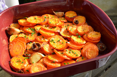 baked carrots recipe easy, country style figs and rosemary blogspot