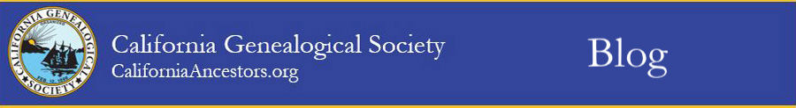 California Genealogical Society blog