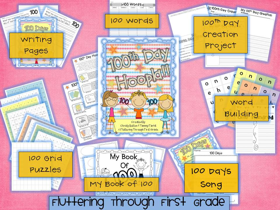 http://www.teacherspayteachers.com/Product/100th-Day-of-School-Hoopla-503860