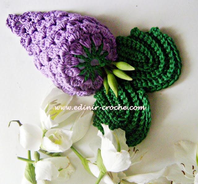 uvas frutos e legumes em croche com Edinir-Croche blog dvd video aulas