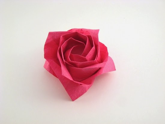 how to make a origami rose