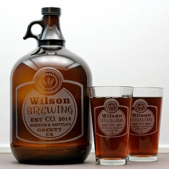 Glass Blasted Custom Engraved Glassware & Growlers; pint glasses; beer; growlers; beer growlers; custom engraving; glass art;