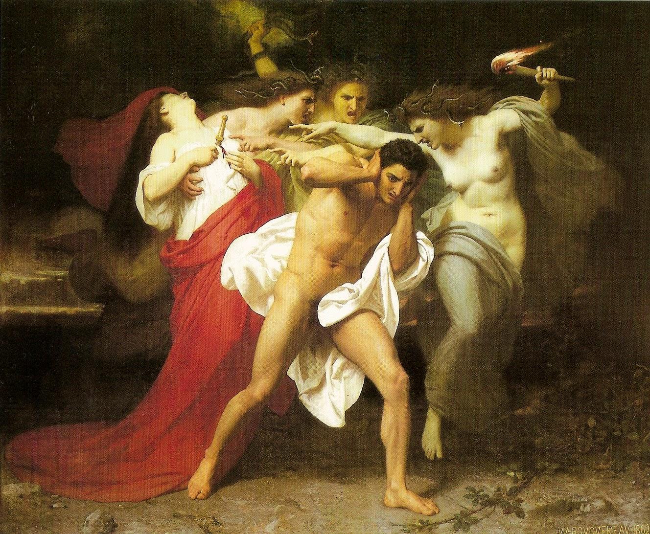 Orestes y las furias.