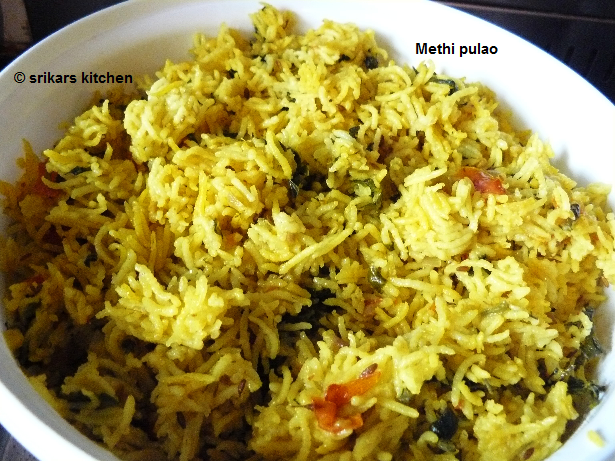 METHI PULAO/ FENUGREEK LEAVES RICE