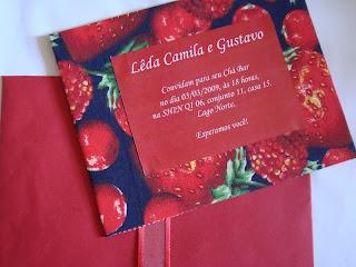 1 Chá com frutas vermelhas....!