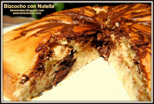 Bizcocho con Nutella.