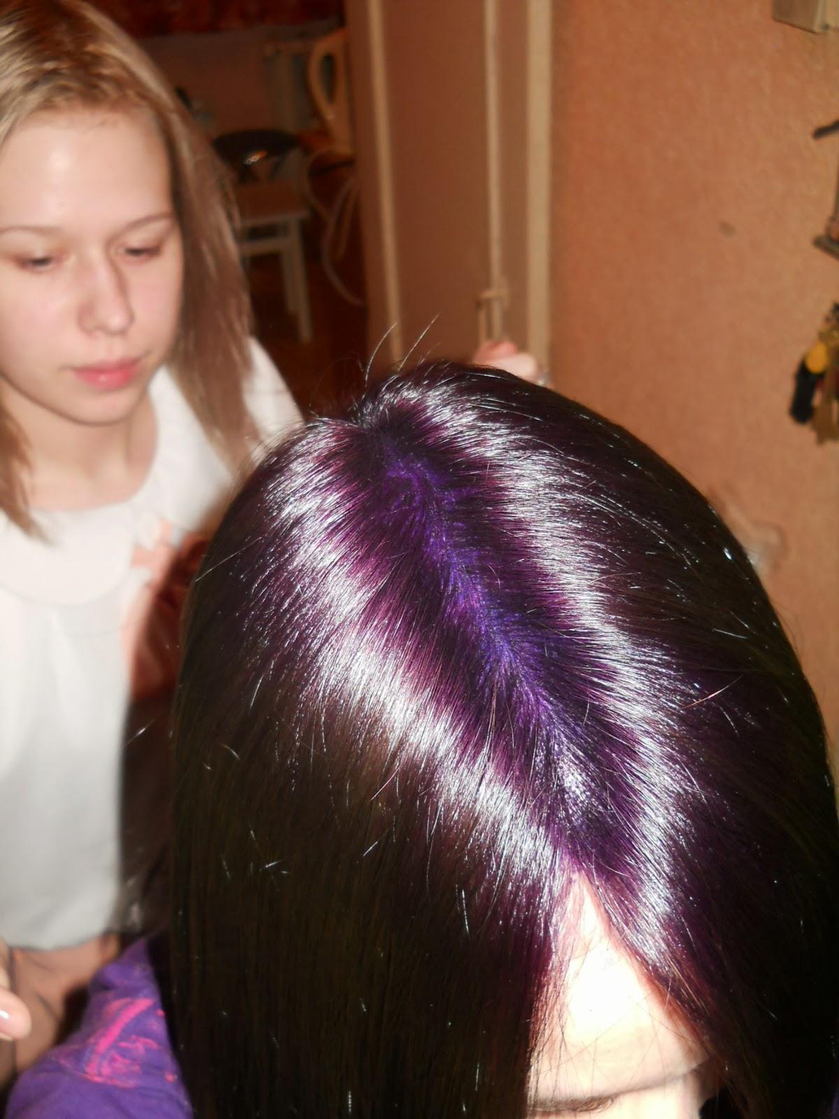 Коричнево фиолетовые волосы