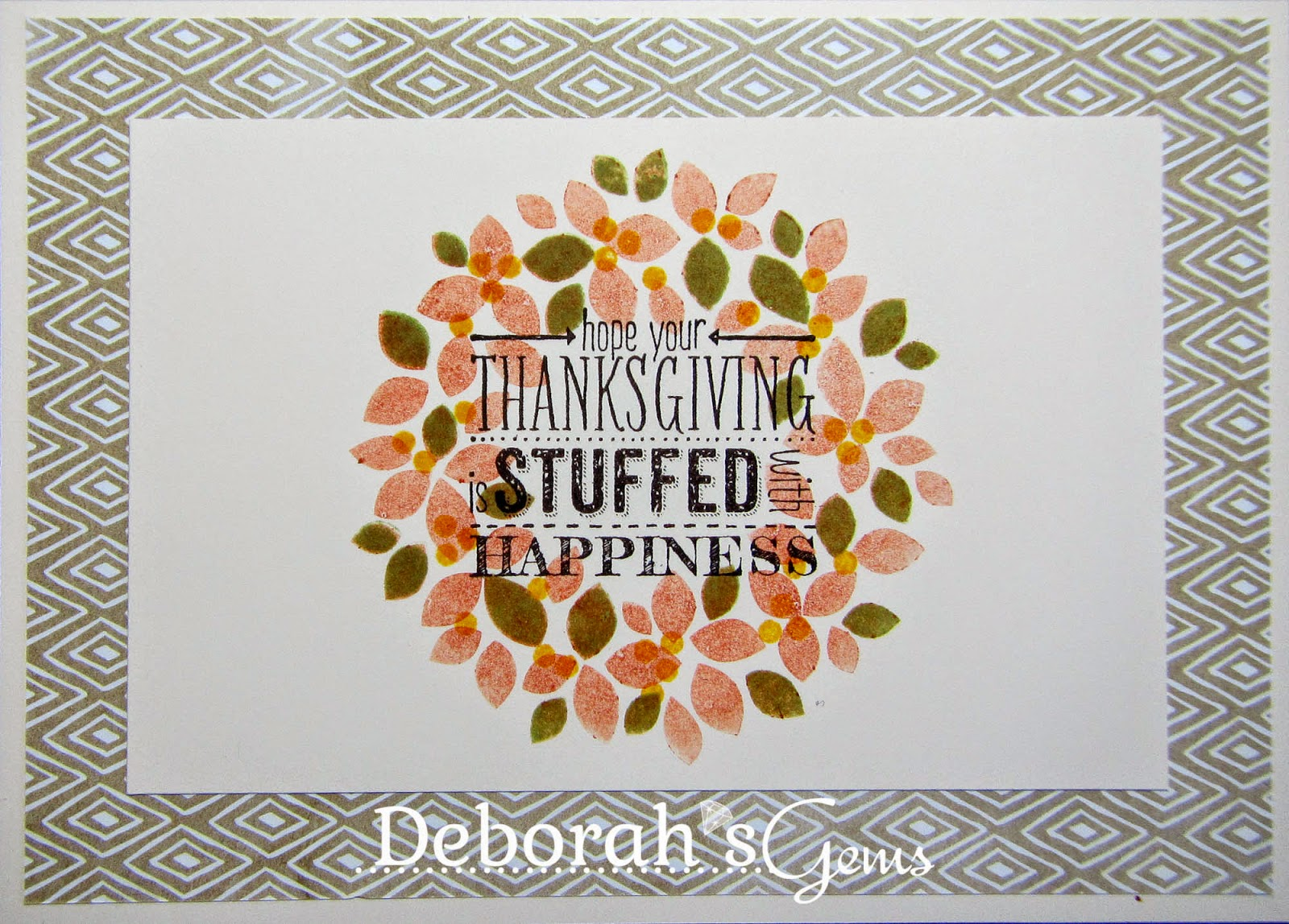 Happy Thanksgiving inside - photo by Deborah Frings - Deborah's Gems