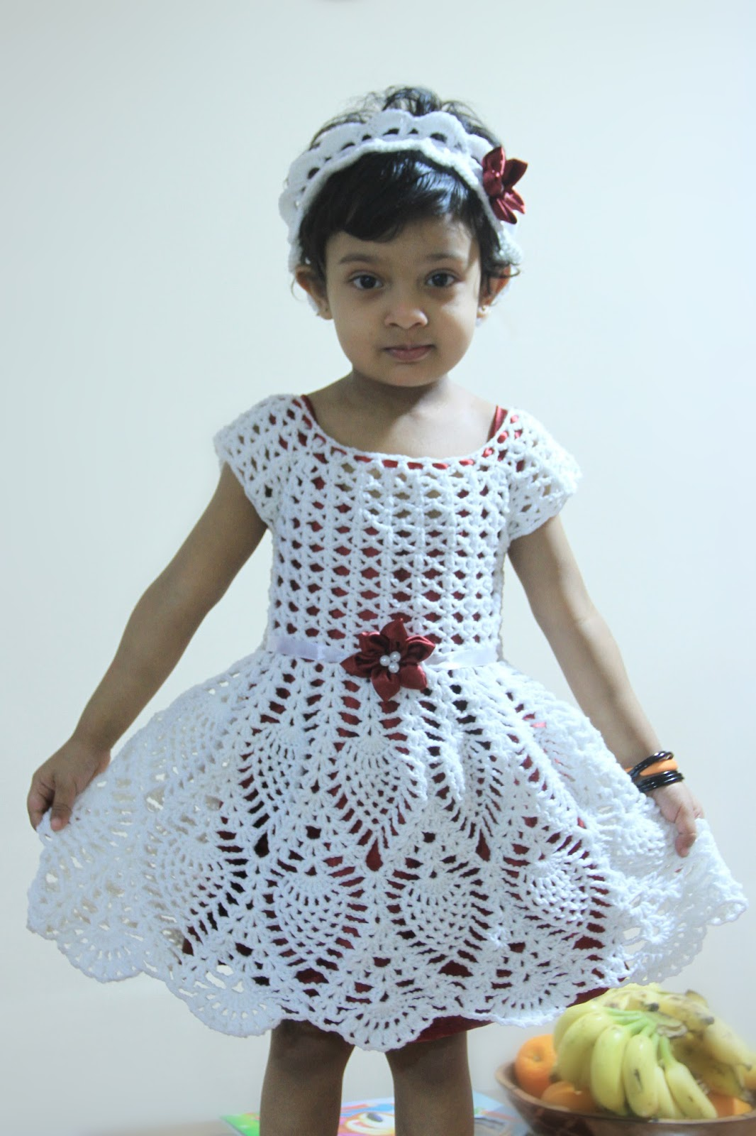 Crochet dress for kids the image kid - Modele dressing ...