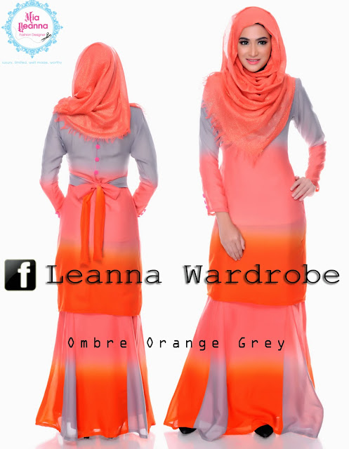 Ombre Orange Grey