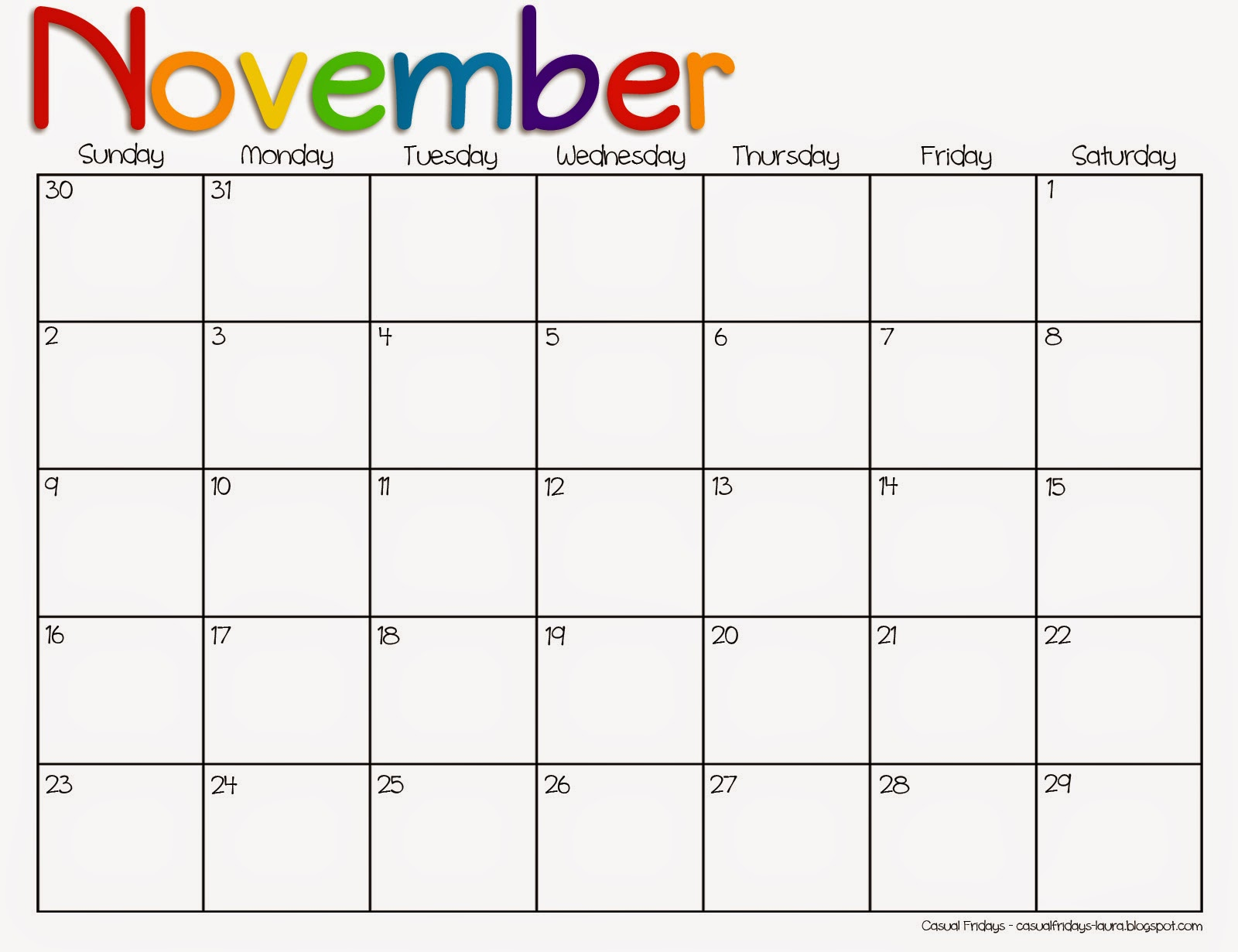 Search Results for: Printable Thanksgiving Calendars For November 2015