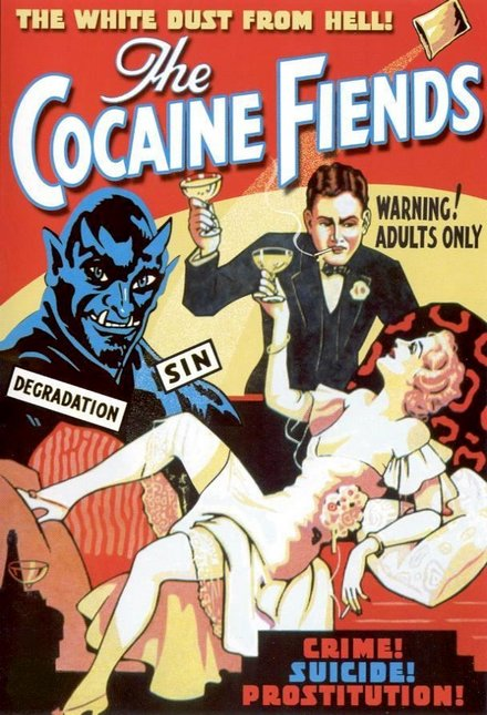 printables, classic posters, free download, graphic design, movies, retro prints, theater, vintage, vintage posters, The Cocaine Fiends - Vintage Movie Poster