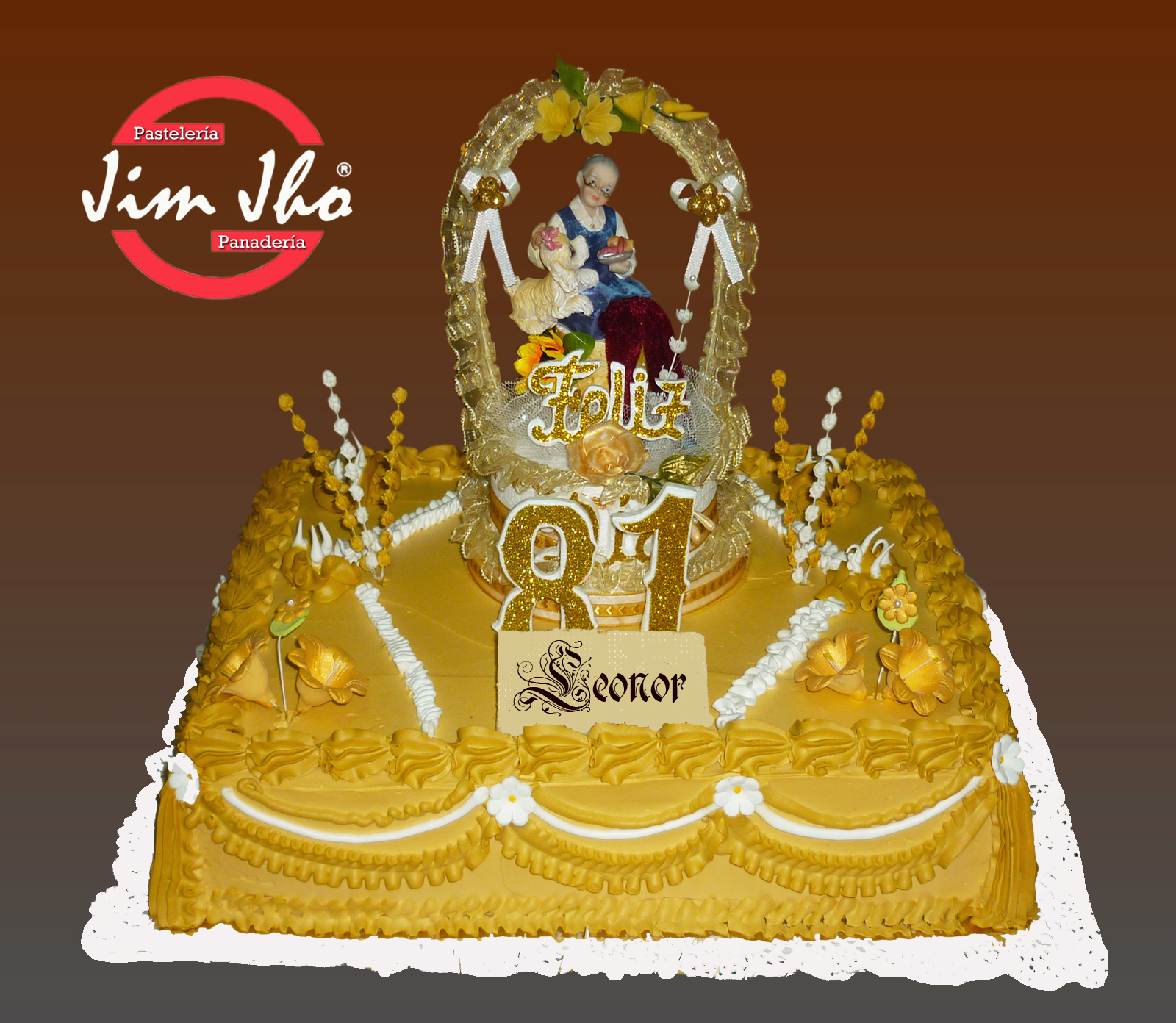 Torta 81 a os pasteler a jimjho for Decoracion 80 anos hombre