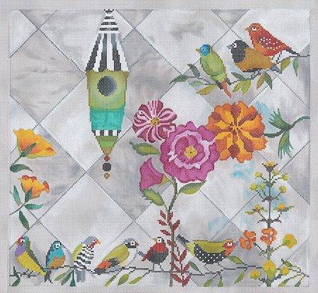 This is a brand new canvas from Tapestry Fair and it is exclusively ours! I  am so excited to stitch this design. I see all kinds of beautiful threads 23ff46b718ac0
