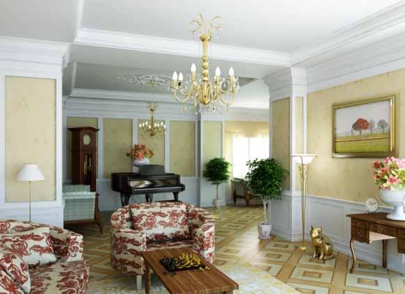 desain interior ruang tamu klasik modern minimalist