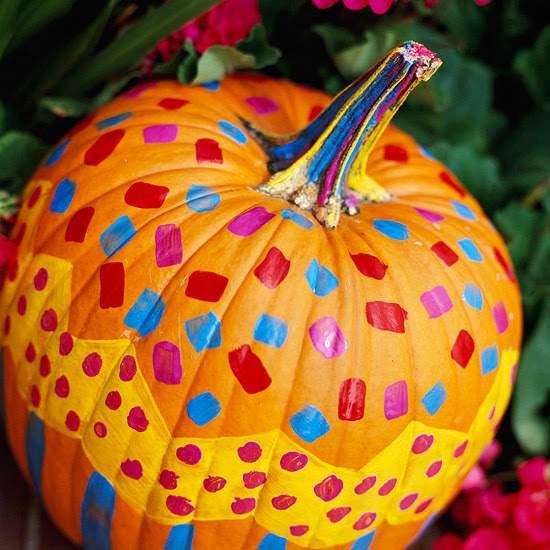 Modern furniture easy painted pumpkins 2013 halloween - Deco citrouille pour halloween ...