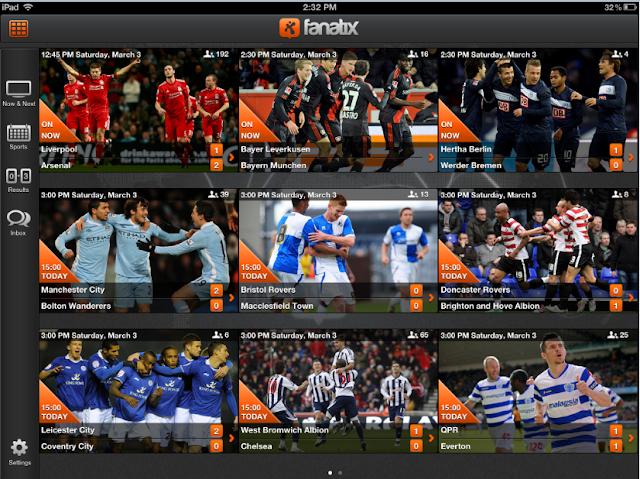 Fanatix football app