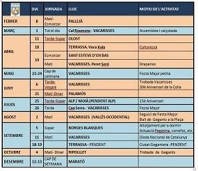 CALENDARI GEGANTS 2015
