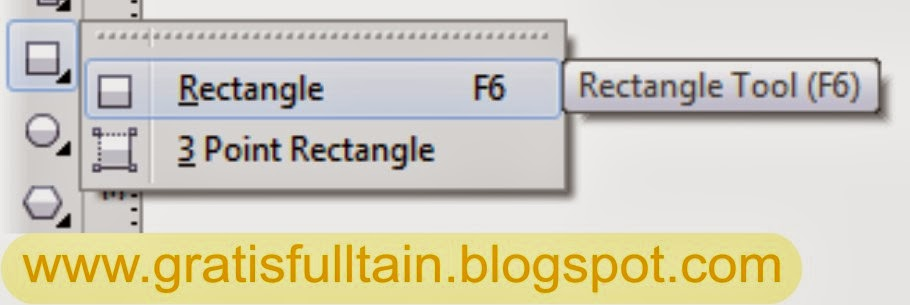 Rectangle tool : Untuk menggambar bujur sangkar dan kotak