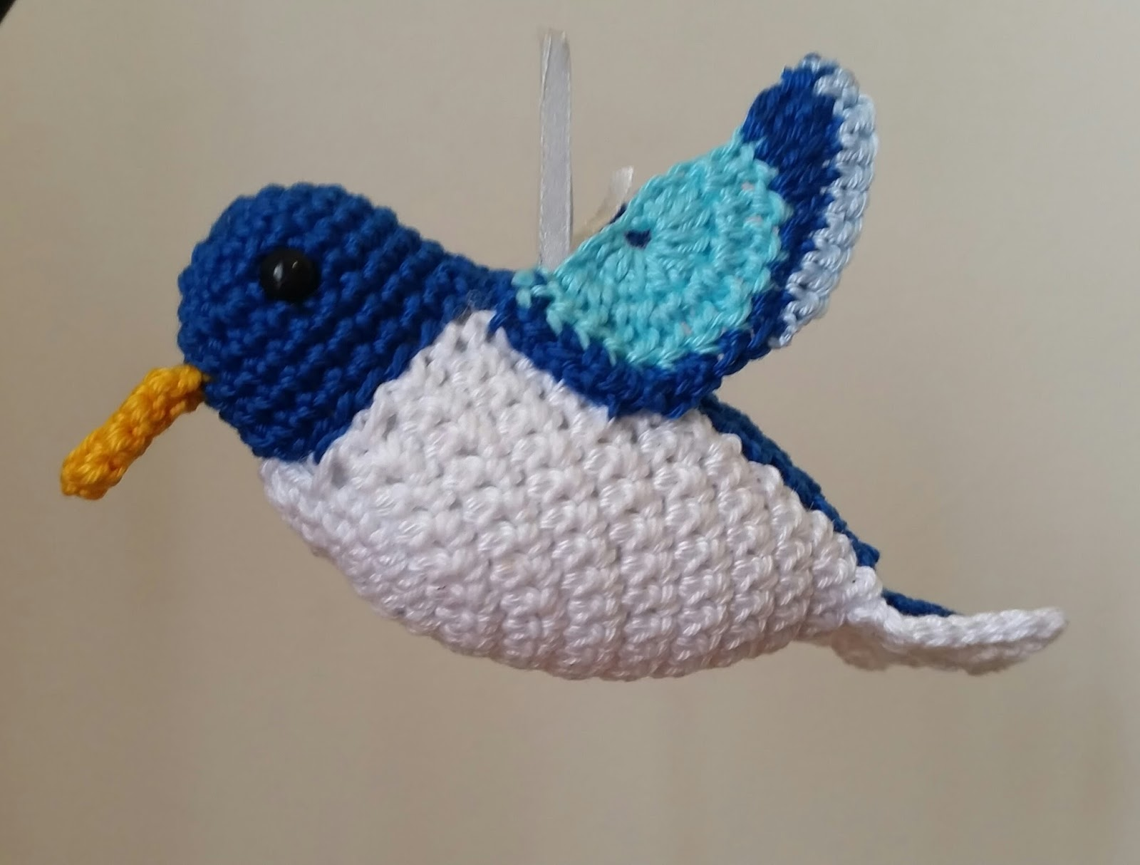 Amigurumi Hummingbird Pattern : Red Haired Amazona: Pearly the Hummingbird Amigurumi ...