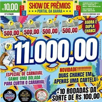 SHOW DE PRÊMIOS PORTAL DA BARRA