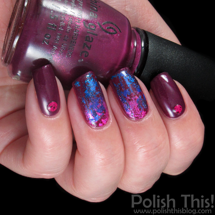 Foil Nail Art With China Glaze Nice Caboose! and Zoya Margo - Polish ...