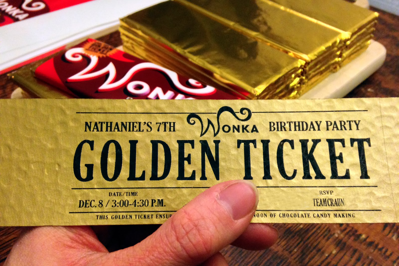 Golden Ticket Party Invitation Template Free Gallery - Party ...