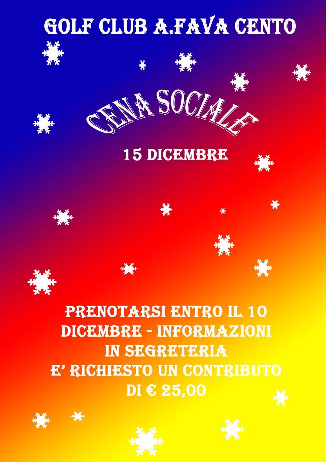 CENA SOCIALE 2016