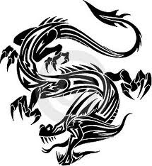 Motif Tato Naga Hitam Putih 24