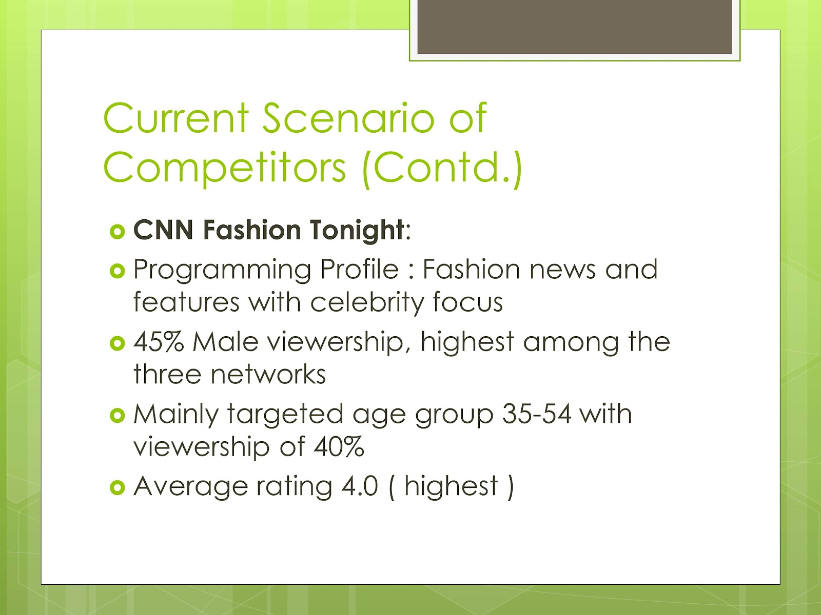 case study the fashion channel