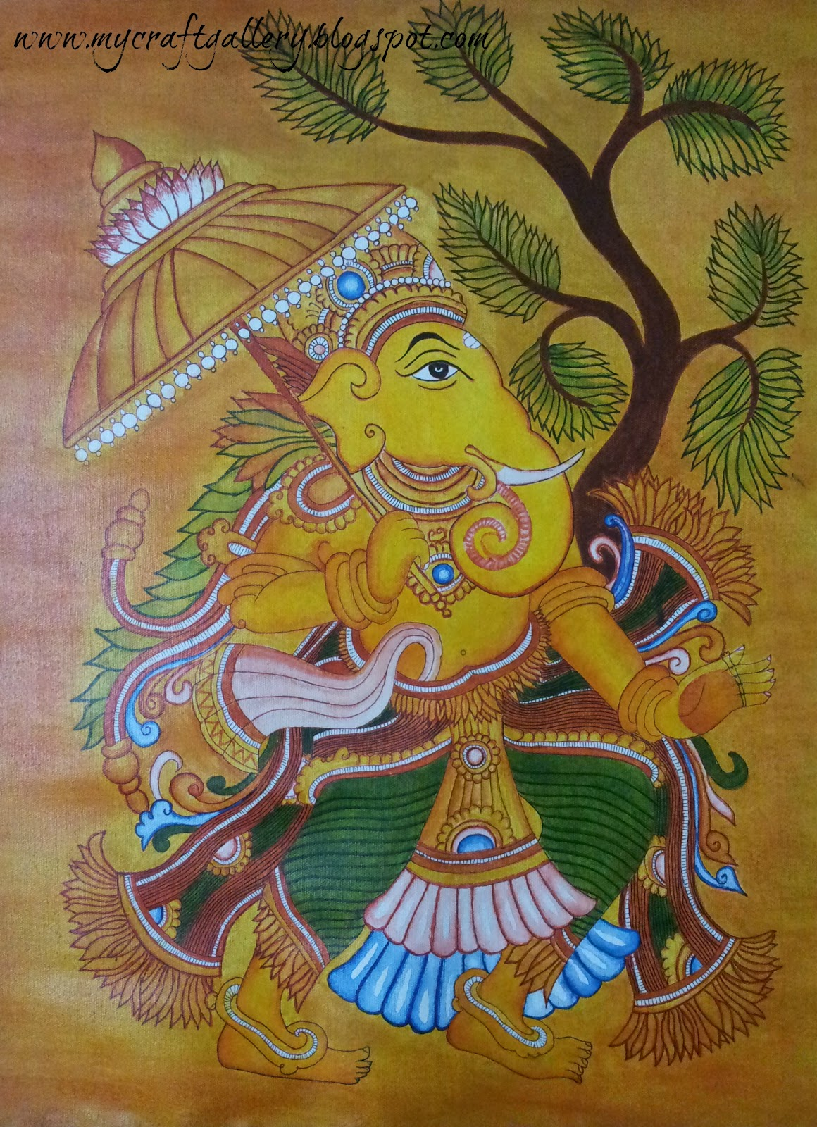 My craft gallery kerala mural painting for Airbrushing mural