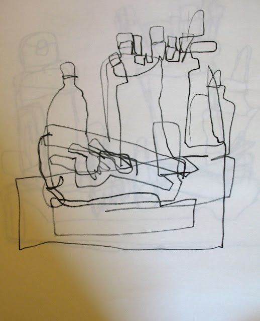 Contour Line Drawing Of Still Life : Adventures of an artist teacher contour line drawing