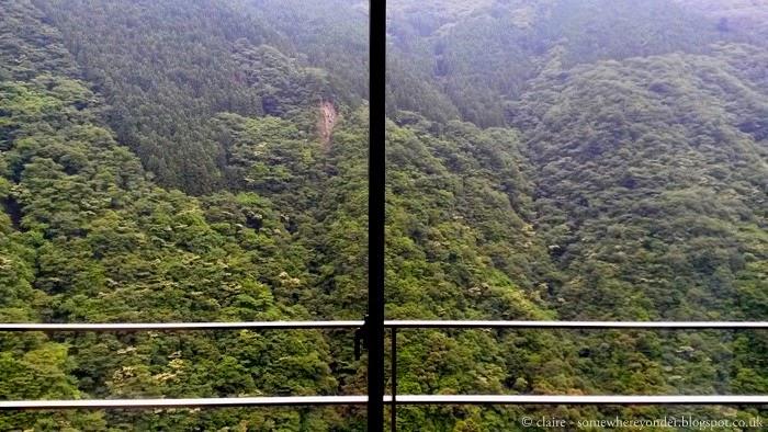 View from Iya Onsen, Shikoku Japan