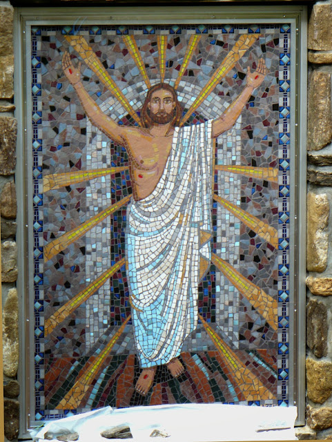 Mosaic mural of the Resurrection