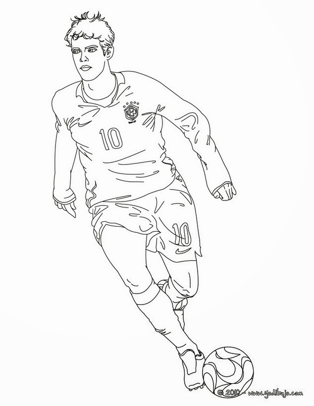 Free Coloring Pages Of Ronaldo Soccer Player In