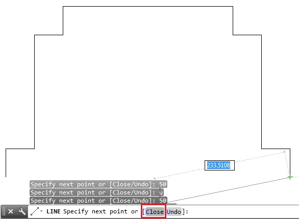 how to make close dotted lines auto cad